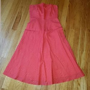 J. Crew Womens Size 2 Red Strapless Dress